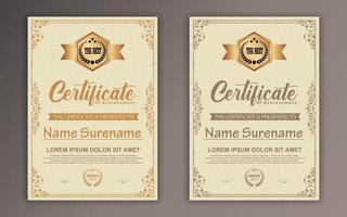 modèle de certificat de réussite vecteur