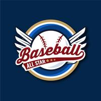 baseball toute l'illustration de bagde étoiles