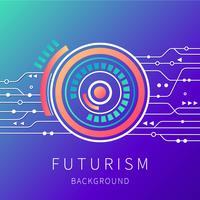 Contexte du futurisme vecteur