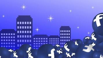 Fond d'icône facebook de médias sociaux vecteur 3d