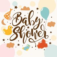 Fonds de douche de bébé