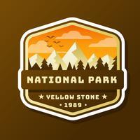 Conception de patch de parc national vecteur