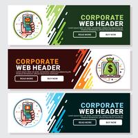En-tête Web d'entreprise vecteur