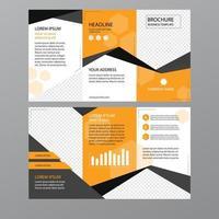plier le modèle de dépliant brochure entreprise vecteur