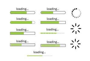 jeu de conception d'icônes de chargement. vecteur