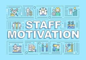 bannière de concepts de mot de motivation du personnel vecteur