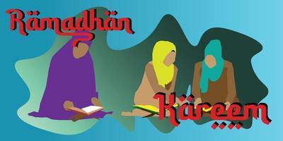 mois de ramadhan kareem vecteur