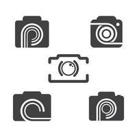 images du logo de la caméra vecteur