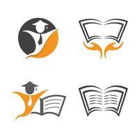 images de logo de livre vecteur