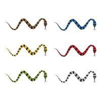 illustration d'images de logo de serpent vecteur