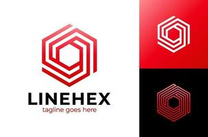 illustration vectorielle de cube abstrait hexagone logo design. création de logo ou élément vectoriel hexagone abstrait coloré moderne. meilleur pour l'identité et les logotypes. forme simple.