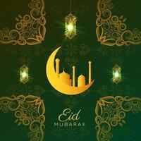 vecteur de fond décoratif festival eid mubarak