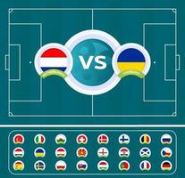 football 2020 contre équipe nationale vecteur