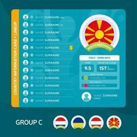 football 2020 groupe c vecteur