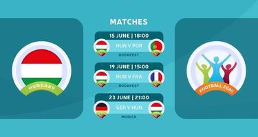 matchs de football de Hongrie 2020 vecteur