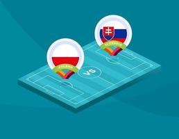Pologne vs Slovaquie football vecteur