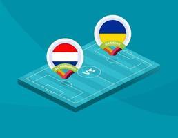 football pays-bas vs ukraine vecteur