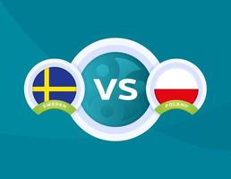 football Suède vs Pologne vecteur