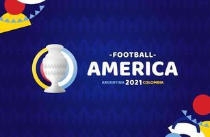 amérique du sud football 2021 argentine colombie illustration vectorielle. pas de logo officiel du tournoi sur fond de motif vecteur