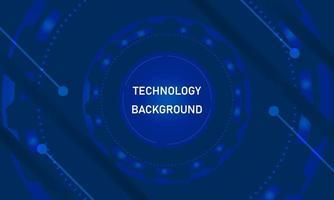 fond de technologie bleu foncé vecteur