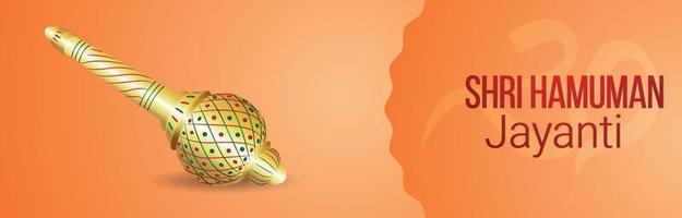 bannière ou en-tête de célébration hanuman jayanti vecteur