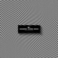 Abstrait motif carré blanc et noir maille conception illustration de fond. illustration vectorielle eps10