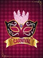 affiche de fête de carnaval avec masque créatif vecteur