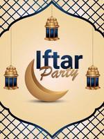 flyer ou affiche de la fête iftar vecteur
