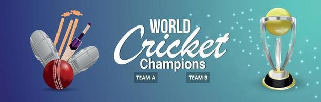 bannière ou fond de championnat de cricket vecteur