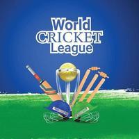 conception de bannière de médias sociaux de la ligue des champions de cricket vecteur