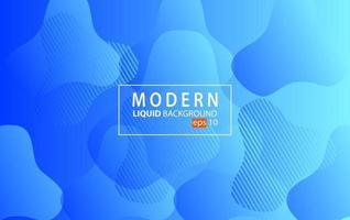 Fond de couleur liquide moderne bleu.Fond géométrique ondulé.Conception d'élément géométrique texturé dynamique vecteur