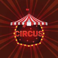 chapiteau de cirque sur fond rouge vecteur