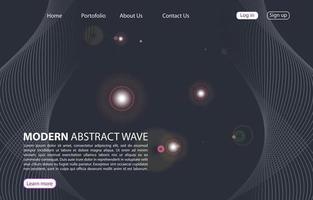 page de destination. site Web de fond abstrait. modèle pour les sites Web ou les applications. Design moderne. conception de style vectoriel abstrait