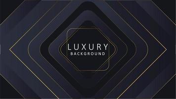 fond de luxe abstrait or noir avec ligne d'or, vous pouvez utiliser pour le fond d'écran et l'arrière-plan web. vecteur