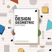conception de la couverture abstraite de fond d'illustration de motif géométrique. illustration vectorielle eps10 vecteur