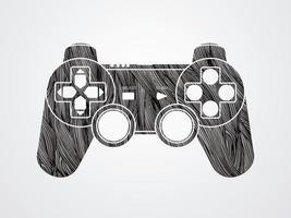 graphique de joystick de jeu vecteur