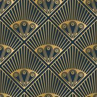 modèles sans couture abstraites de luxe, fond de texture de lignes dorées rétro, forme de plume de paon, illustration vectorielle vecteur