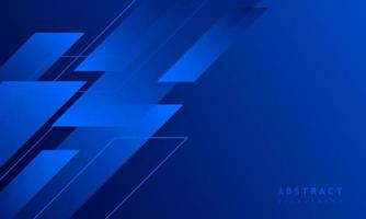 fond bleu foncé avec forme carrée abstraite, concept de bannière dynamique et sport. vecteur