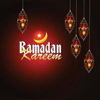 lanterne arabe réaliste de ramadan kareem ou eid mubarak vecteur