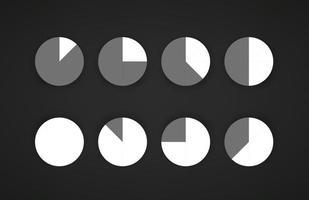 modèle de préchargement d'application web et mobile isolé sur fond sombre vecteur