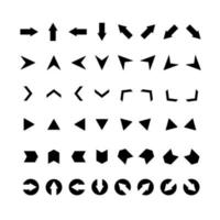 jeu de flèches vectorielles. clipart pour la conception Web, les applications mobiles, l'interface, etc.