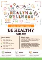 Brochure santé et bien-être vecteur