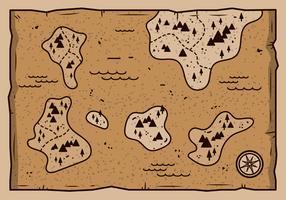 Vecteur de carte ancienne