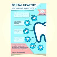 Modèle de Brochure de santé dentaire et bien-être vecteur