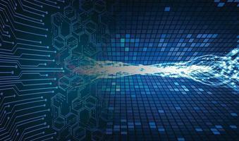 fond de concept de technologie future cyber circuit bleu vecteur