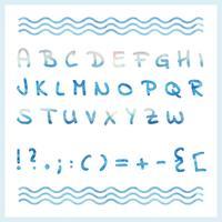 Alphabet aquarelle de vecteur