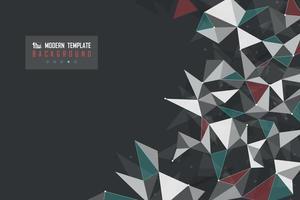 technologie de triangle abstrait vert conception rouge de la conception de la technologie moderne. illustratrion vecteur eps10