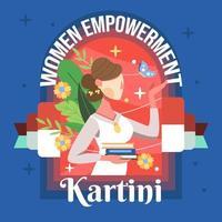 kartini les femmes de l'autonomisation vecteur