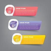 modèle de zone de texte moderne, infographie de bannière vecteur