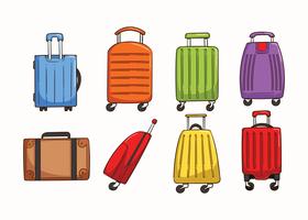 Vecteurs de bagages vecteur